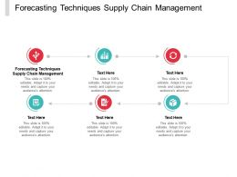 Forecasting Techniques Supply Chain Management Ppt Powerpoint Presentation File Templates Cpb