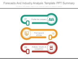 Forecasts And Industry Analysis Template Ppt Summary