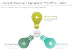Forecasts Sales And Operations Powerpoint Slides