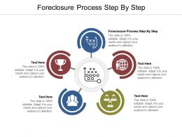 Foreclosure Process Step By Step Ppt Powerpoint Presentation Infographics Grid Cpb