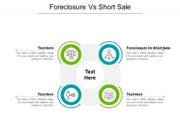 Foreclosure Vs Short Sale Ppt Powerpoint Presentation Summary Rules Cpb