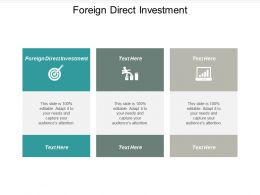 Foreign Direct Investment Ppt Powerpoint Presentation File Graphics Pictures Cpb