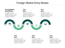 Foreign Market Entry Modes Ppt Powerpoint Presentation Slides Graphic Images Cpb