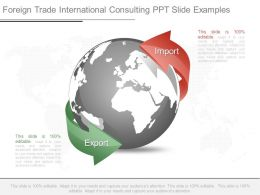 Foreign Trade International Consulting Ppt Slide Examples