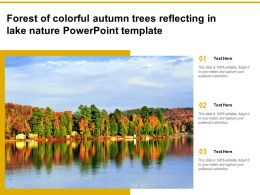 Forest Of Colorful Autumn Trees Reflecting In Lake Nature Powerpoint Template