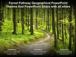 Forest Pathway Geographical Powerpoint Themes And Powerpoint Slides With All Slides