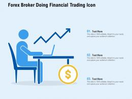 Forex Broker Doing Financial Trading Icon