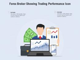 Forex Broker Showing Trading Performance Icon