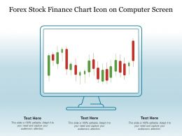 Forex Stock Finance Chart Icon On Computer Screen