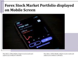 Forex Stock Market Portfolio Displayed On Mobile Screen