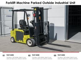 Forklift Machine Parked Outside Industrial Unit