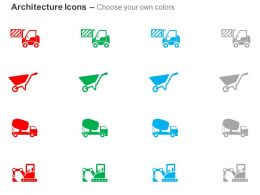 Forklift Truck Trolley Mixer Plant Crane Ppt Icons Graphics