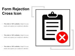 Form Rejection Cross Icon