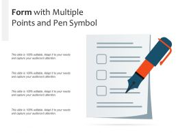 Form With Multiple Points And Pen Symbol
