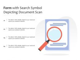 Form With Search Symbol Depicting Document Scan