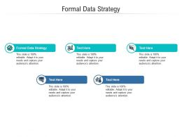 Formal Data Strategy Ppt Powerpoint Presentation Slides Clipart Images Cpb
