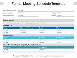 Formal Meeting Schedule Template Powerpoint Ideas