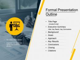 Formal Presentation Outline Ppt Slide Templates