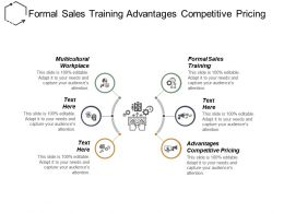 Formal Sales Training Advantages Competitive Pricing Multicultural Workplace Cpb