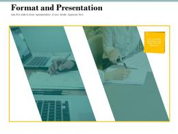 Format And Presentation Bid Evaluation Management Ppt Powerpoint Images