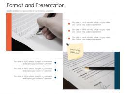 Format And Presentation Tender Management Ppt Mockup