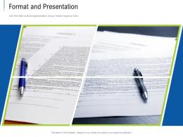 Format And Presentation Tender Response Management Ppt Powerpoint Presentation File Picture