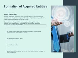 Formation Of Acquired Entities Development Ppt Powerpoint Portfolio