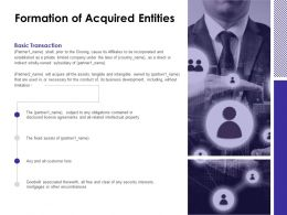 Formation Of Acquired Entities Mortgages Ppt Powerpoint Presentation Show