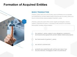Formation Of Acquired Entities Ppt Powerpoint Presentation File Portfolio