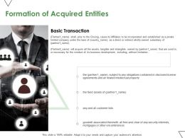 Formation Of Acquired Entities Ppt Powerpoint Presentation Icon Background Designs