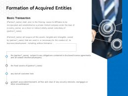 Formation Of Acquired Entities Ppt Powerpoint Presentation Show Design