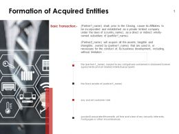 Formation Of Acquired Entities Security Ppt Powerpoint Presentation Pictures
