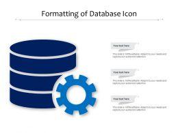 Formatting Of Database Icon