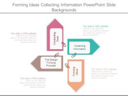 Forming Ideas Collecting Information Powerpoint Slide Backgrounds