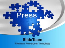 Forming Puzzle With The Word Press Solution Powerpoint Templates Ppt Themes And Graphics 0113