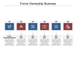 Forms Ownership Business Ppt Powerpoint Presentation Styles Skills Cpb
