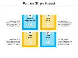 Formula Simple Interest Ppt Powerpoint Presentation Slide Download Cpb