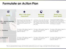 Formulate An Action Plan Behavior Ppt Professional Skills