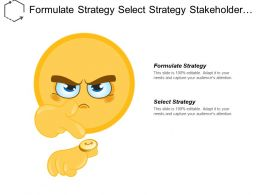 Formulate Strategy Select Strategy Stakeholder Analysis Integrated Architecture Cpb