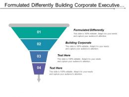 Formulated Differently Building Corporate Executive Summary Organized Retail