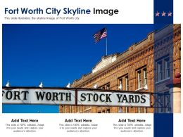 Fort Worth City Skyline Image Powerpoint Presentation PPT Template