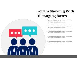 Forum Showing With Messaging Boxes
