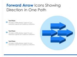 Forward Arrow Icons Showing Direction In One Path