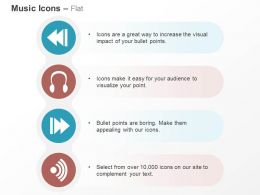 Forward Headphone Backward Wifi Ppt Icons Graphics