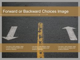 Forward Or Backward Choices Image