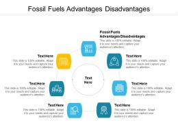 Fossil Fuels Advantages Disadvantages Ppt Powerpoint Presentation Styles Infographic Template Cpb