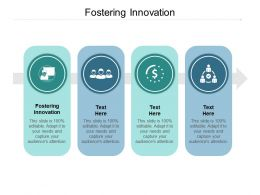 Fostering Innovation Ppt Powerpoint Presentation Infographics Mockup Cpb