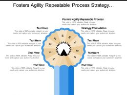 Fosters Agility Repeatable Process Strategy Formulation Strategy Implementation