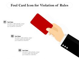 Foul Card Icon For Violation Of Rules