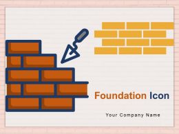 Foundation Icon Builder Holding Trowel Company Management Construction